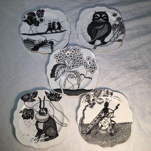 Wild Masquerade Canape Plates Florence Balducci